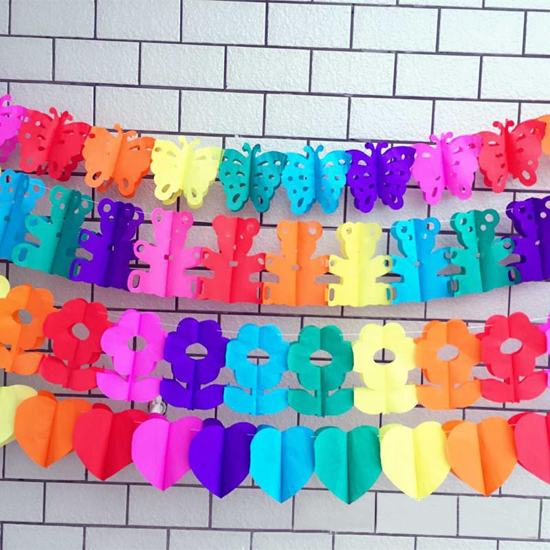 Multi Coloured Honeycomb Light Bulb Christmas Party Hanging Garland Bunting 3m