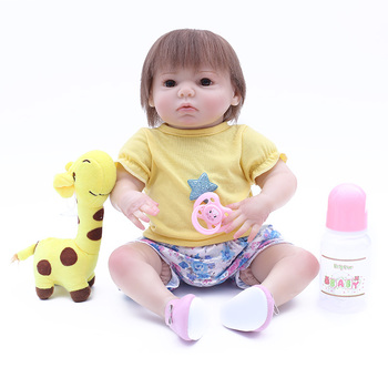 17'' Realistic Reborn Babies 43 cm reborn toddlers Newborn Baby Dolls baby model bebe  toys For Children Birthday presents