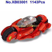 Xb03001 1143 шт. креативный город МОС technic citizen akira мотоцикл строительный блок игрушка