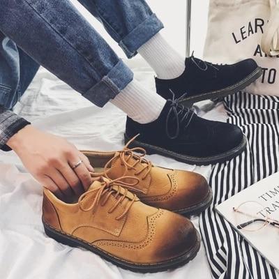 Men's Shoes Shoes The New Wild Fashion Japanese Department Of Low-top Big Shoes Retro Rub Color Shoes Solid Color Matte Mens Casual Shoes