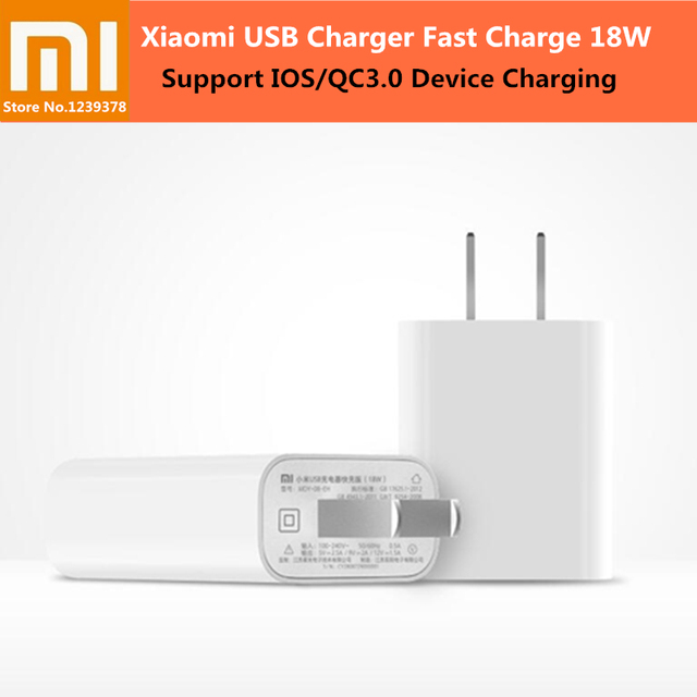 XIAOMI 18 W Charge rapide 3.0 chargeur rapide prise US adaptateur chargeur USB mural pour iPhone X 8 7 Samsung Huawei P 20 10 Xiaomi 8 SE 6