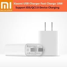 XIAOMI 18 W hızlı şarj 3.0 hızlı ABD fişli şarj cihazı duvar tipi usb şarj cihazı adaptörü için iPhone X 8 7 Samsung Huawei P 20 10 xiaomi 8 SE 6