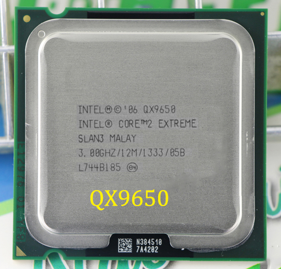CPU Intel core 2 quad QX9650 Desktop / 3.0G / 12MB Cache / LGA 775 / FSB 1333MHz / 130W