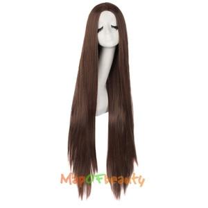 """Image 4 - MapofBeauty 39 """"100 см длинные прямые парики для женщин черный коричневый белый парик для косплея Женские синтетические волосы поддельные шиньоны розовая сетка"""