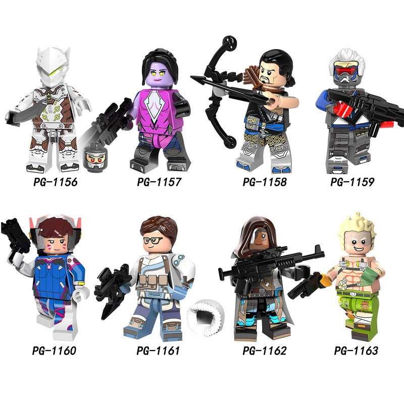 BLINK Marvel Superhero Custom Printed LEGO Minifigure with Weapon