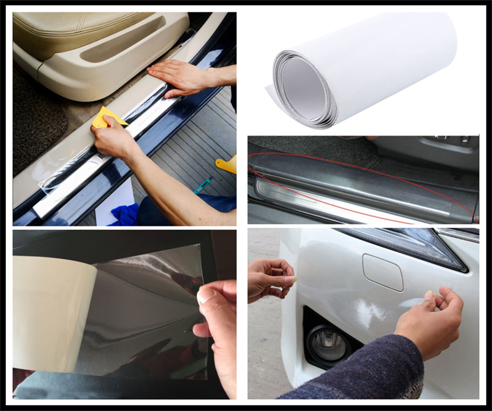 car <font><b>Accessories</b></font> Sticker Bumper Paint Protective Film Model 2/ 3/ 8M <font><b>for</b></font> Volkswagen <font><b>VW</b></font> <font><b>GOLF</b></font> 5 <font><b>6</b></font> 7 <font><b>GTI</b></font> TIGUAN PASSAT B5 B6 B7 B8 image