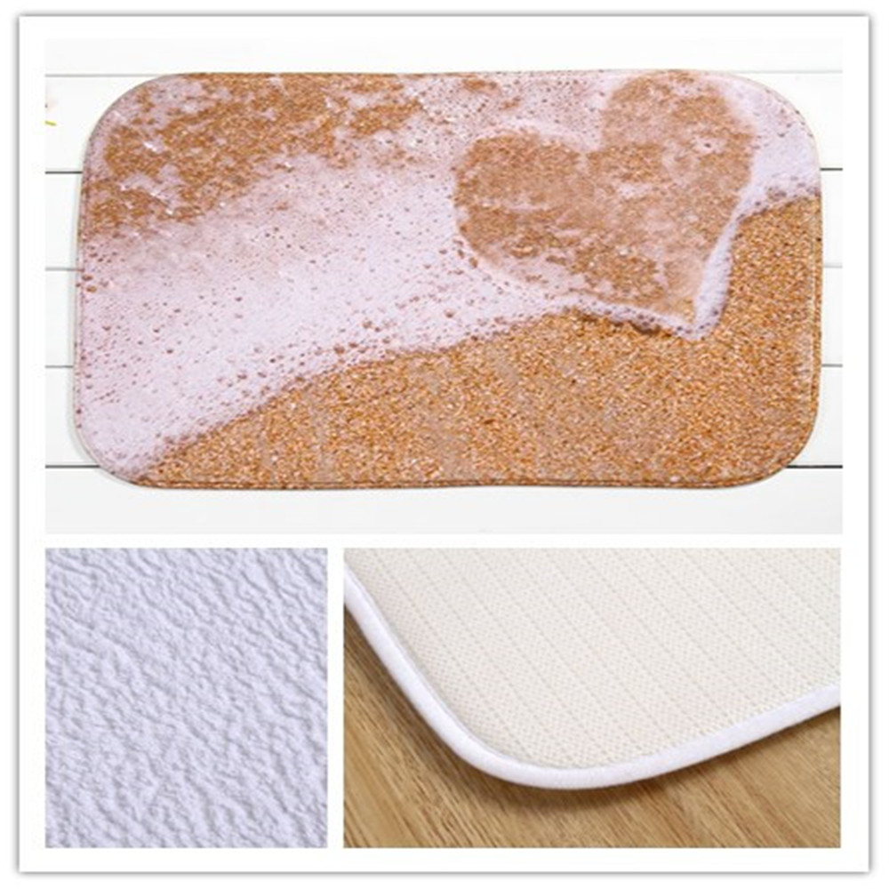 Heartogether Brand Bathroom Floor Mats Non Slip Shaggy Rugs Doormat Coral Fleece Non Slip Mat