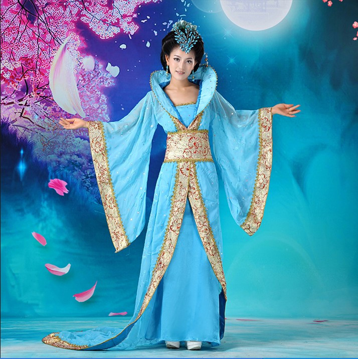 Luxury Women's Cosplay Costume Dance Clothes  Fairy Princess Tang Suit Hanfu Queen Chinese Ancient Clothing