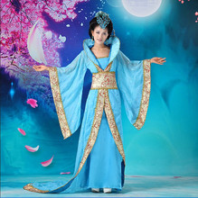 Luxury Womens Cosplay Costume dance clothes  fairy princess tang suit hanfu queen Chinese ancient clothing