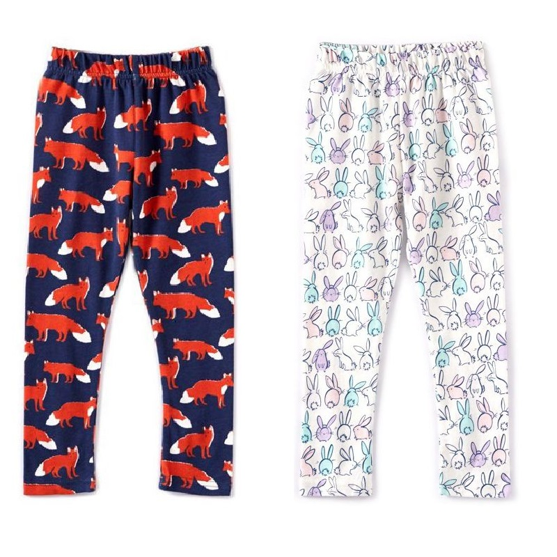 2pcs/lot Cartoon Girls Leggings Baby Girl Clothes Pencil Pants Cotton Kids Trousers Skinny Children Leggings For Girl baby girls leggings kids pencil pants childrens printing flower toddler classic leggings girl skinny children trousers leggings
