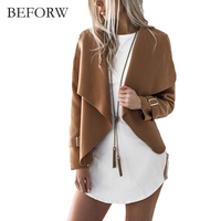 BEFORW Autumn Tops Street Women Jacket 2017 New Outerwear Jackets Sashes Long Sleeve Casual Coat Female