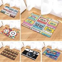 Alfombra de suelo, cinta Vintage, Alfombra de ducha antideslizante de gamuza, alfombra de baño de 50x80 cm, alfombras de baño de cocina, decoración del hogar