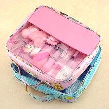 kids toys Care Set toy Kid Healthcare Hygiene Grooming kit Thermometer Clipper Scissor Brush Toiletries girl