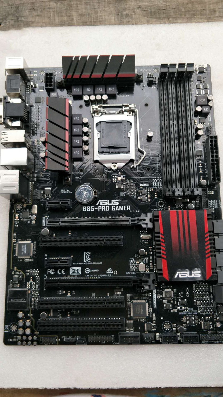 ASUS B85-PRO GAMER original motherboard DDR3 LGA 1150 I3 I5 I7 22nm cpu 32GB USB2.0 USB3.0 B85 Desktop motherborad Free shippingASUS B85-PRO GAMER original motherboard DDR3 LGA 1150 I3 I5 I7 22nm cpu 32GB USB2.0 USB3.0 B85 Desktop motherborad Free shipping