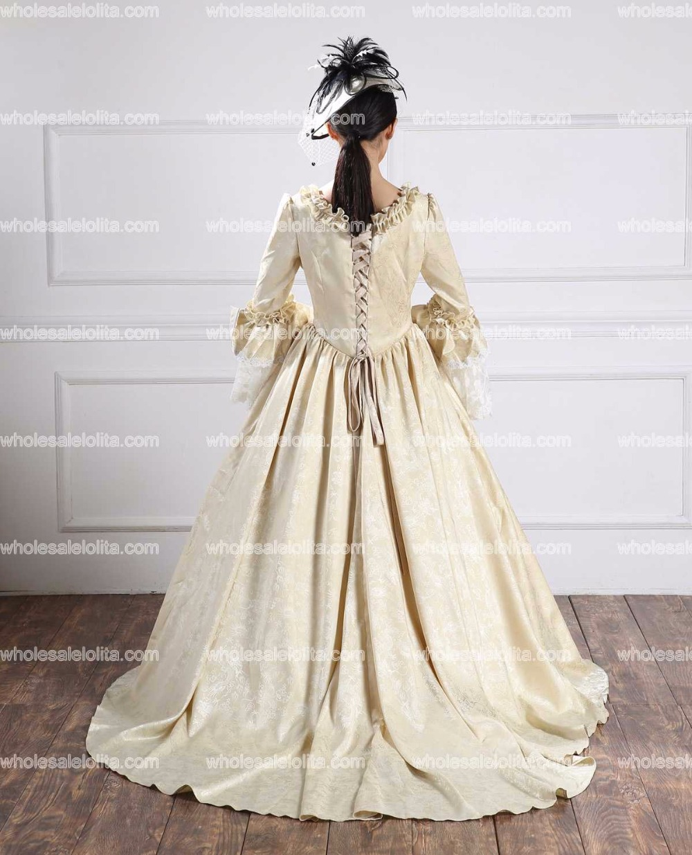 High Quality Holiday Champagne Baroque Marie Antoinette Dress 18th ...