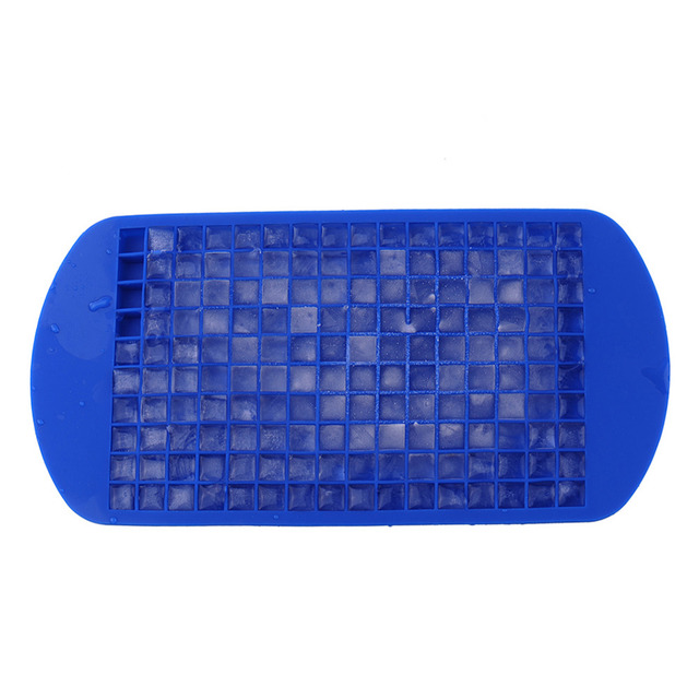 Square Shape Silicone Ice Tray Fruit Ice Cube Maker Bar Kitchen Accessories 160 Grids DIY Creative Small Ice Cube Mold