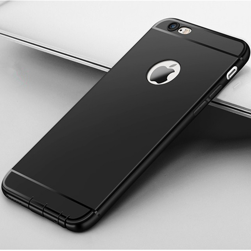 Elegance Frosted Soft Silicone Iphone 6S 6 7 Plus Anti-Knock Protective Case With Dust Plug
