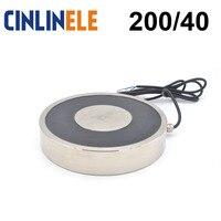 CL P 200/40 1000KG/10000N Holding Electric Magnet Lifting Solenoid Sucker Electromagnet DC 6V 12V 24V Non standard custom