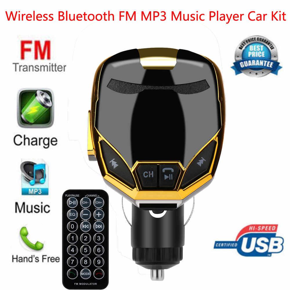ワイヤレス Bluetooth 充電器 FM トランスミッタ変調器カーキット MP3 音楽プレーヤー G7 ラジオハンズフリーカーキット充電モジュール # D3
