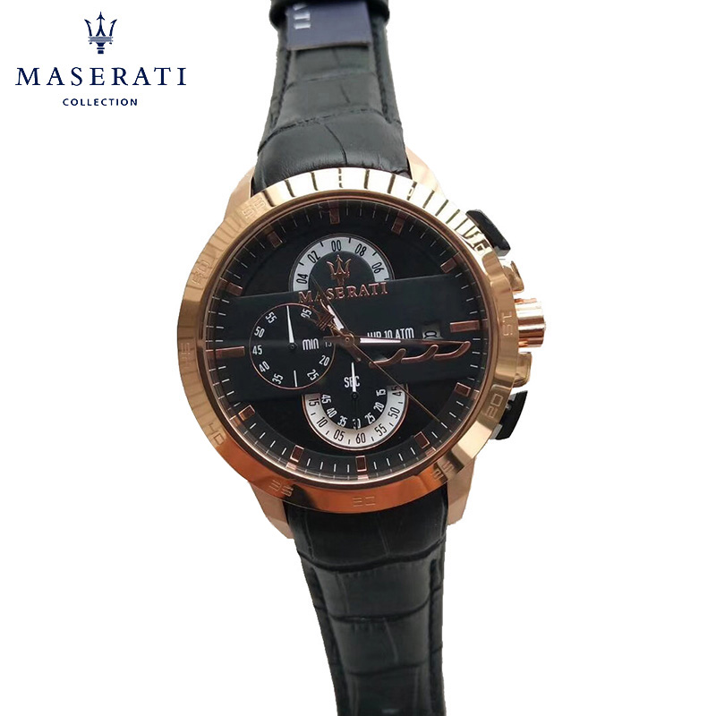 Maserati Quartz Wristwatches Calendar Men Waterproof Top Brand Luxury 20mm Watch Strap Watches Horloges R5653323002 часы maserati
