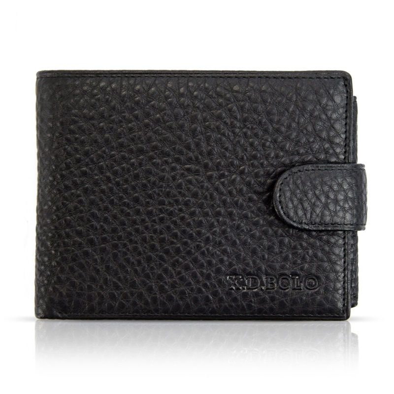 New Men Fashion Casual Wallet Top Genuine Leather Card Organizer short Clutch Bags Man Coin Purses Photo Bit 2018 Drop Shipping