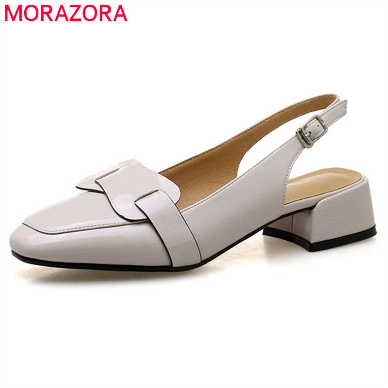 MORAZORA 2020 new arrival pumps women shoes sweet solid party wedding shoes simple buckle summer shoes