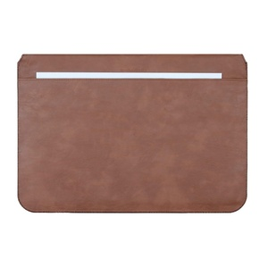 Image 5 - MOSISO PU Leather Laptop Sleeve Notebook Bag Pouch Case for Macbook Pro 15 Case Waterproof Unisex 14 Inch Laptop Bag Sleeve Cove