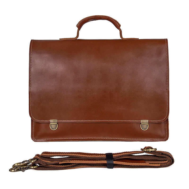 241a838c1c50 Men Briefcase Genuine Leather Bag Full Grain Leather Handbags Office Bag  for Men Messenger Bag Men Leather Laptop Bag Briefcases