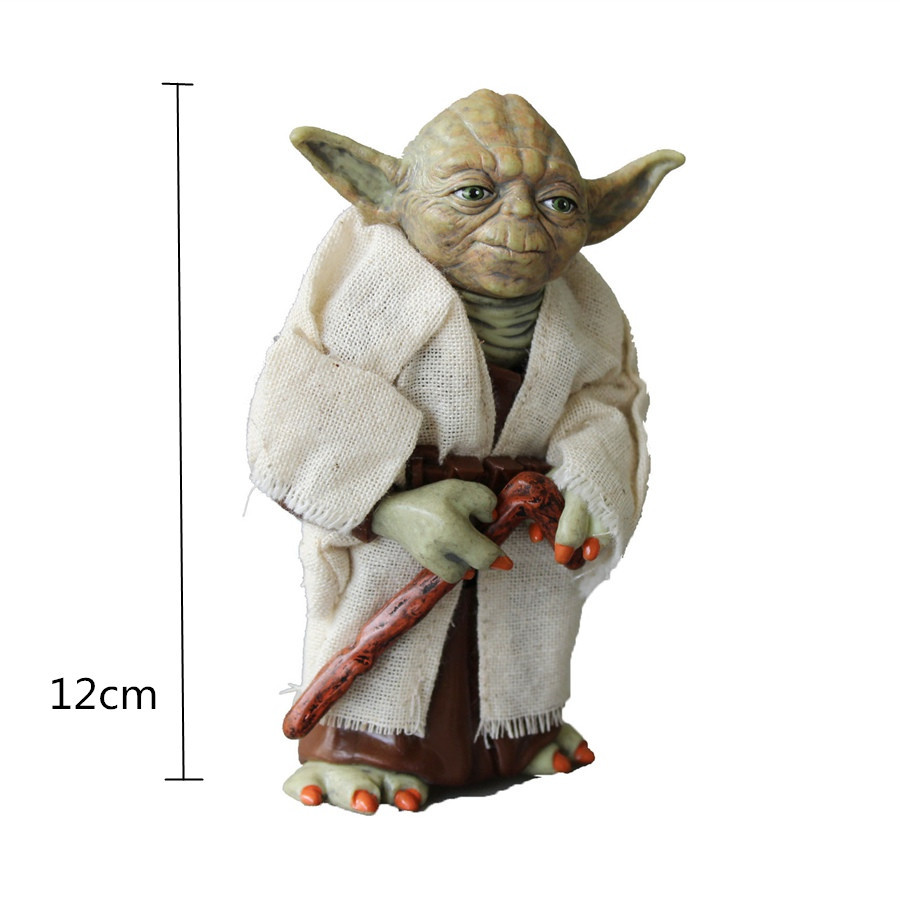 Promotional Star Wars Yoda PVC Action Figure Toys Collectible Toy for Kids Christmas Gift 12 CM 2