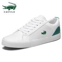 CARTELO/Новинка 2019 года; повседневная обувь; мужская кожаная обувь на плоской подошве; теннисные кроссовки на шнуровке с низким верхом; Masculino
