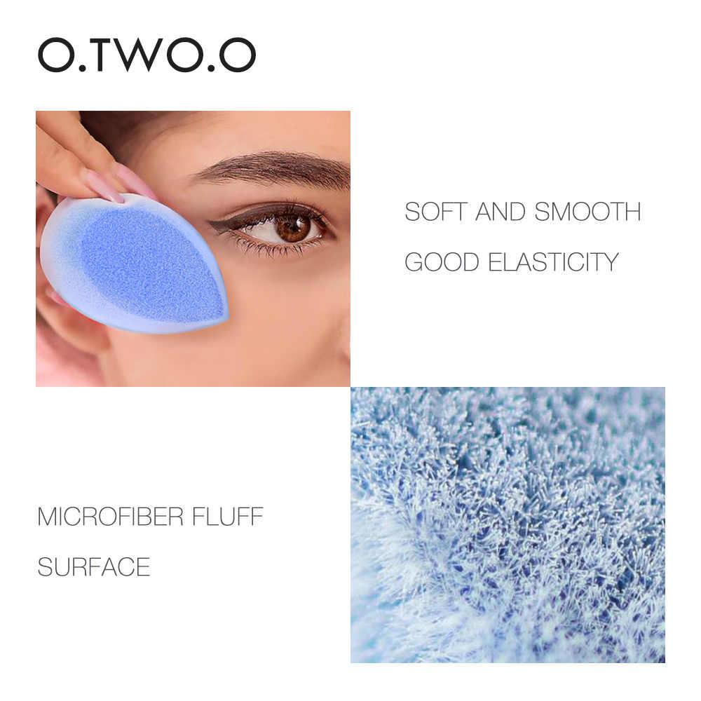 O. DOIS. O Azul Puff Esponja Facial Rosto Maquiagem Cosméticos Fundação Creme Corretivo Creme Em Pó Liquidificador Sopro Conjunto Caixa de Ovo Stand Titular