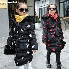 Pydownlake girls jacket winter jackets thickening down coat children girl kids clothes coats korean parka 5~14 year birthday fas