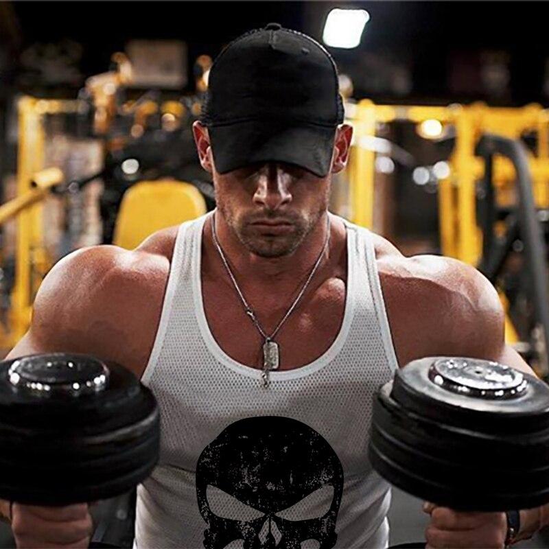 Brand Punisher Gyms Clothing Mesh Bodybuilding Singlet Men   Tank     Top   Workout Sleeveless Shirt Mens Fitness Stringers Tanktop
