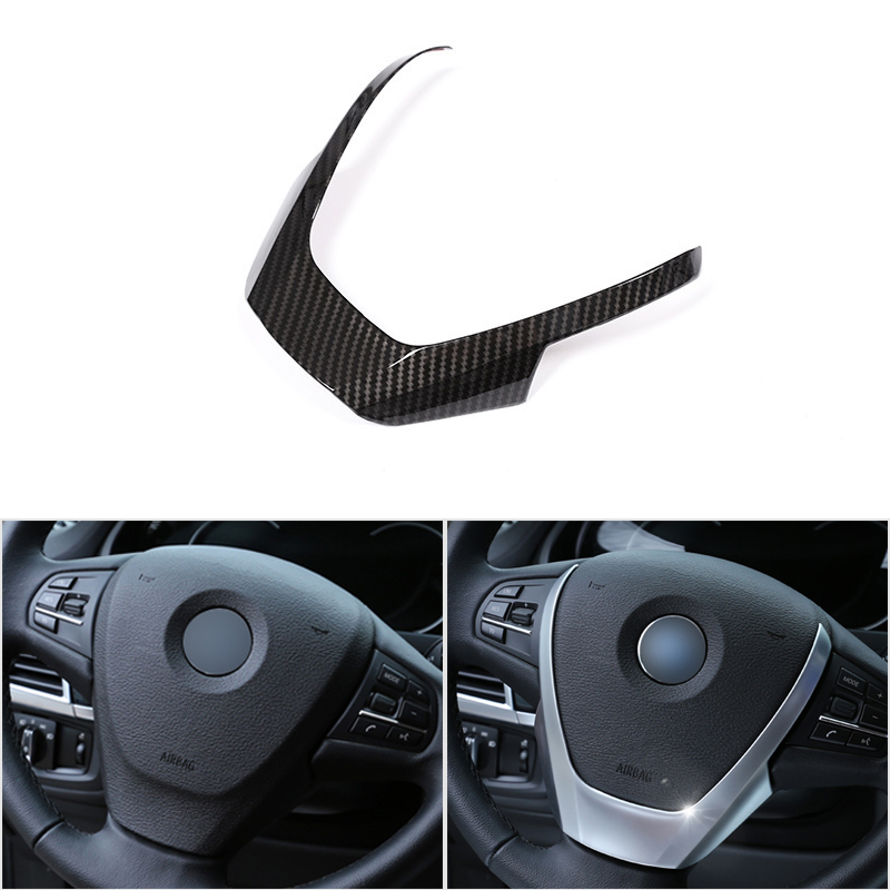 Car Styling Interior Steering Wheel Cover Trim For BMW X3 X4 X5 F15 F25 F26 2014 2015 2016