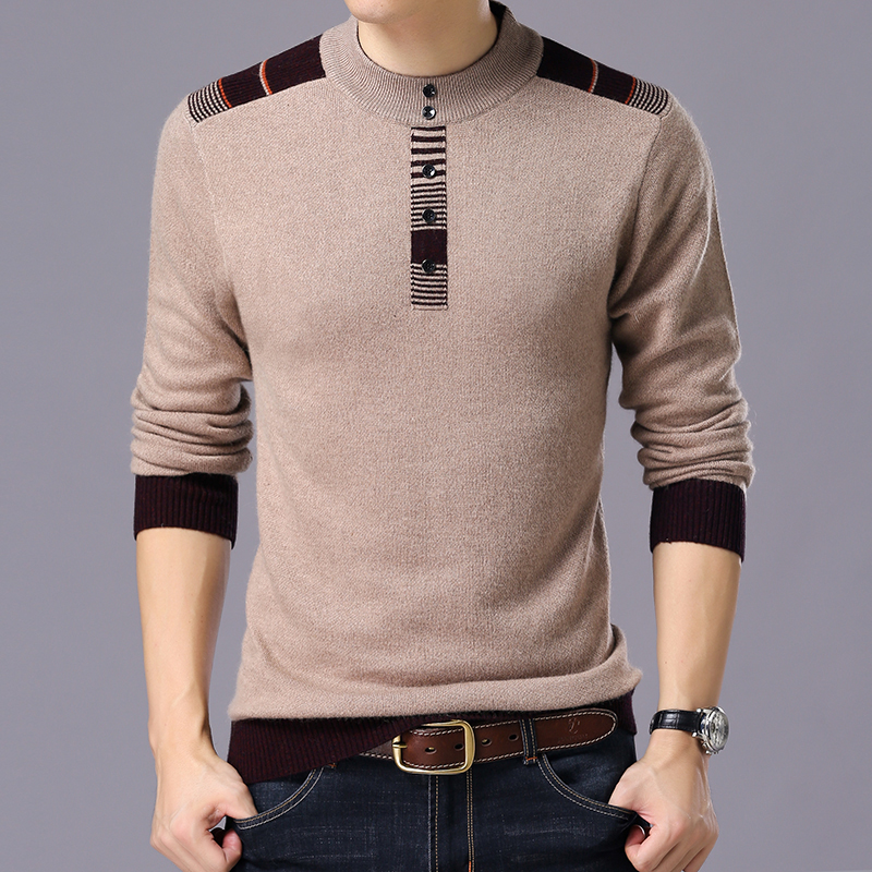 2019 Men Brand-Clothing Knitted Cashmere Pullover Men Winter New Arrivals Thick Warm Sweaters O-Neck Wool Sweater