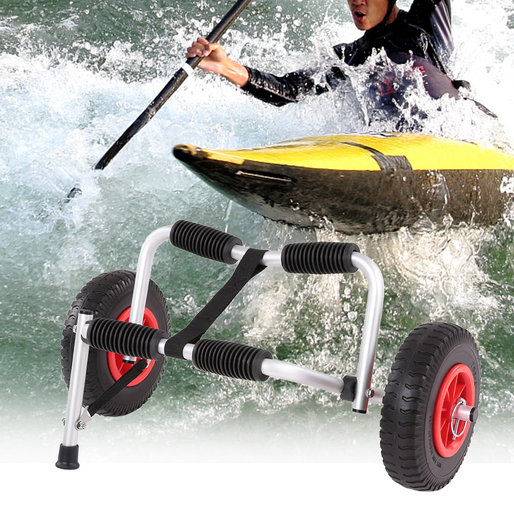 Trolley Lightweight Foldable Boat Kayak Carrier Canoe Dolly Tote Trolley Transport Trailer Cart Removable Wheels Aluminum