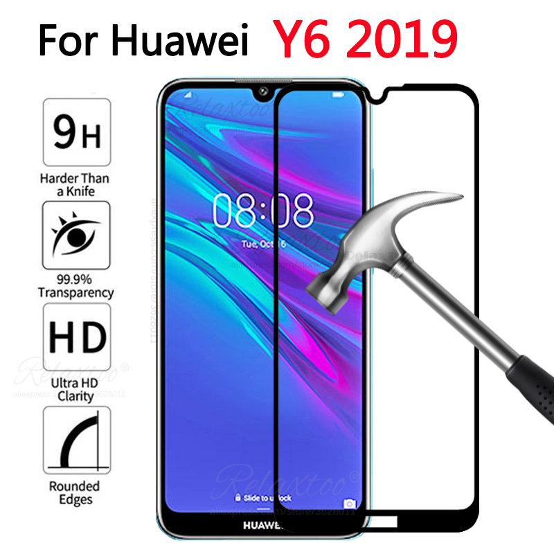 full cover Tempered safety Glass For Huawei Y6 prime 2019 Screen Protector on hauwei huawey y 6 Y6 prime 2019 Protective Film 9h