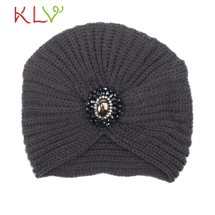 Skullies & Beanies Fashion Womens Winter Warm Knit Crochet Ski Hat Braided Turban Headdress Cap  Levert 2017 302 Hot 2017 skullies