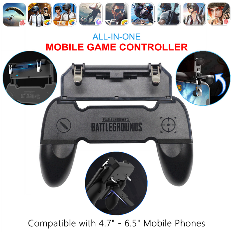 All-in-One Mobile Game Controller Fortnited Free Fire PUGB PUBG Mobile Joystick Gamepad Metal L1 R1 Button for iPhone Gaming Pad(China)