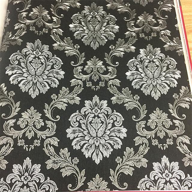 Beibehang Schwarz Einfarbig Tapete Plain Textur Tuch Muster Tapete  Schlafzimmer Wohnzimmer Bar Hotel Tapete