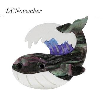 Broche de pez Animal acrílico delfín ballena tiburón globo Vida ...