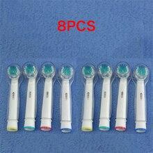 Vbatty sikat gigi listrik 8pcs Penggantian kepala dengan tutup pelindung untuk Oral B sikat gigi listrik 1013