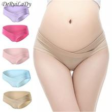 DeRuiLady Pregnant Underwear 100% Cotton Maternity Panties L