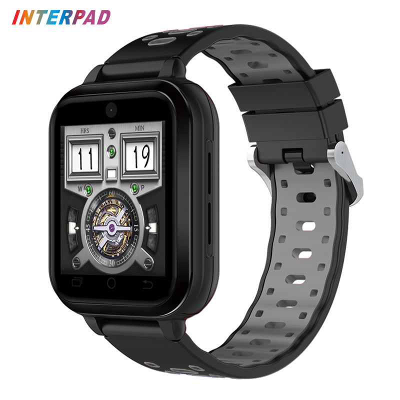 Interpad 4G GPS WIFI Smart Watch Android 6.0 MTK6737 Duad Core CPU 1GB RAM +8GB ROM Smartwatch With 2MP Camera Support SIM Card 696 z01 bluetooth android 5 1 smart watch 512m ram 4g rom wifi sim camera gps