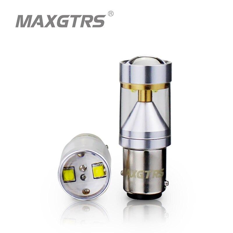 2x S25 1157 BAY15D 30 W CREE Puce Avec Lentille Degrés Conduite Lampe Ampoule De Frein De Voiture Back-Up Sourcing lumière Blanc/Rouge/Ambre