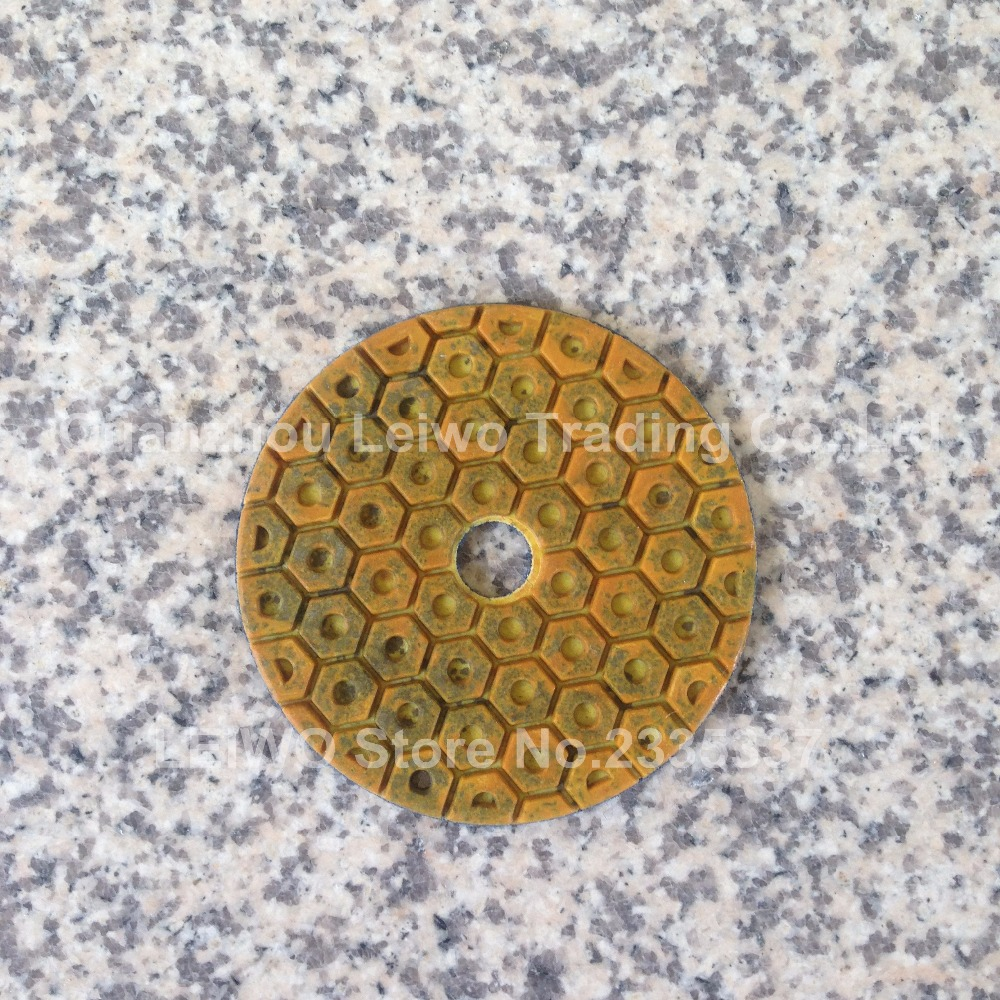 Metal Polishing Pad 4 inch 100 mm Circle Polishing Wheel Hexagon Spot Stone Resin Polishing Pads