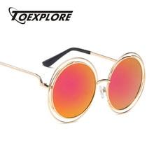 TOEXPLORE Gothique Steampunk Hommes lunettes de Soleil Femmes Marque  Designer Lunettes Miroir Rond Lunettes Nouveau Mode Haute Q.. 0a766e9d9c03