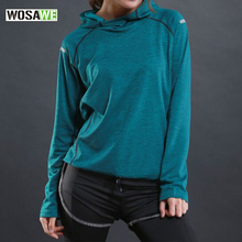 Running T-Shirt Long-Sleeve Sports-Sweater Fitness Jogging Quick-Dry Women Tops Hooded