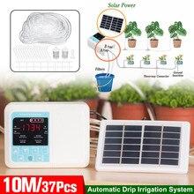 37 шт. Солнечная/USB зарядка интеллектуальное садовое автоматическое устройство орошения встроенный водяной насос Система капельного орошения таймер контроллер