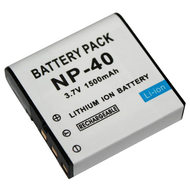 1 PC 3.7 V 1500 mAh NP-40 batterie pour Casio EX-Z30/Z40/Z50/Z55/Z57/Z750 EX-P505/P600/P700 PM200 batterie